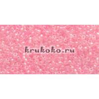 Бисер Toho 15/0 Прозрачный радужный розовый балерина