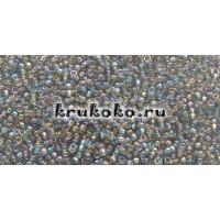 Бисер Toho 15/0 Прозрачный радужный черный алмаз