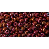 Бисер Preciosa 10/0 №14600 Непрозрачный радужный бордовый, 1 сорт (50 гр)