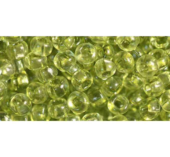 Бисер Preciosa 10/0 №01152 Прозрачный салатовый, 1 сорт (50 гр)