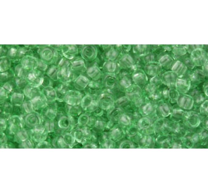Бисер Preciosa 10/0 №01162 Прозрачный зеленый, 1 сорт (50 гр)