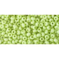 Бисер Preciosa 10/0 №03154 Непрозрачный светло-салатовый, 1 сорт (50 гр)