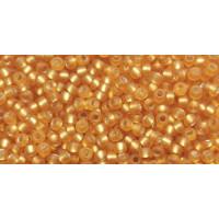 Бисер Preciosa 10/0 №17050M Внутреннее серебрение матовый янтарь, 1 сорт (50 гр)