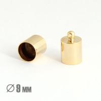 Колпачок-циллиндр, ВД 9мм, позолота 16К