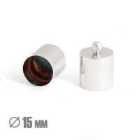 Колпачок-циллиндр, ВД 15мм, родиевое покрытие