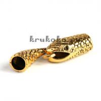 Застежка-колпачок Змея, ВД 7, золото