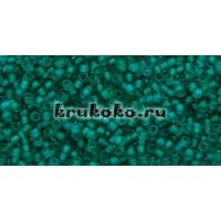 Бисер Toho 15/0 Прозрачный морозный изумруд