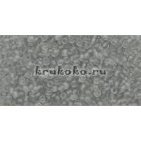 Бисер Toho 15/0 Прозрачный морозный светло-серый