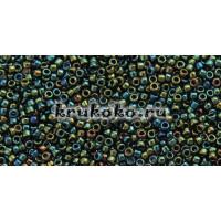 Бисер Toho 15/0 Метализированный зелено-коричневый ирис